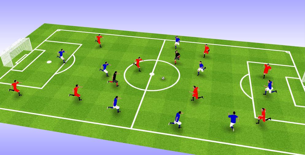Juegos reducidos 8 contra 8 en fútbol