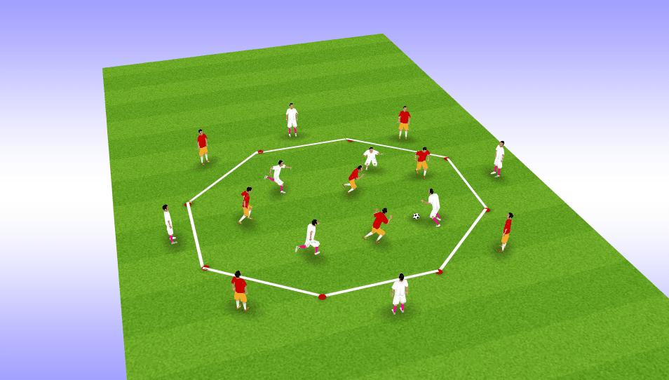 Juego en fútbol 4 contra 4